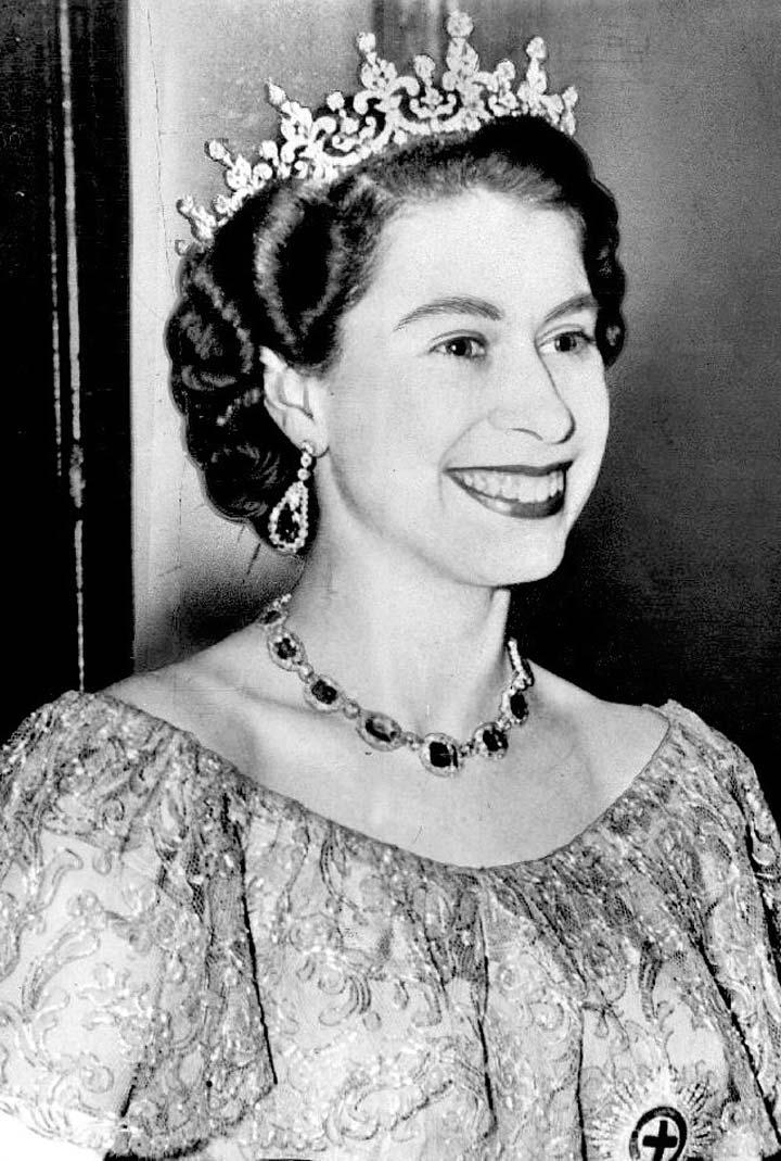 Queen Elizabeth II before her coronation. Royal wedding