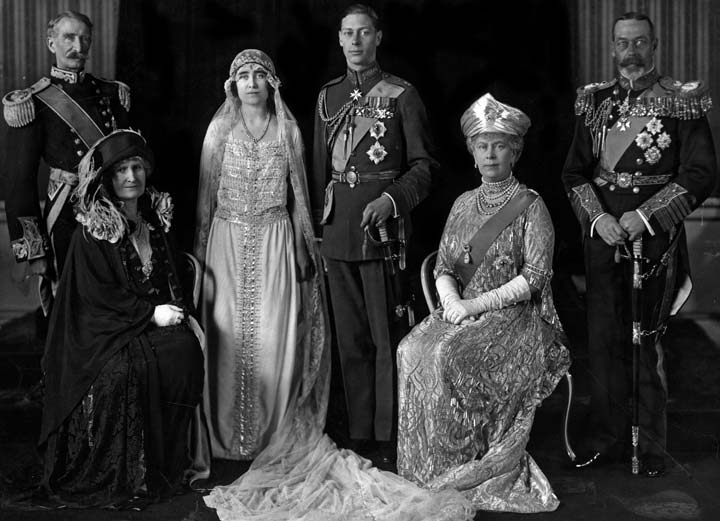 The royal wedding of Elizabeth Bowes-Lyon and Duke of York (later King George VI)