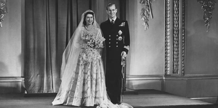 The royal wedding of Princess Elizabeth (later Queen Elizabeth II) and Philip Mountbatten (later Duke of Edinburgh)