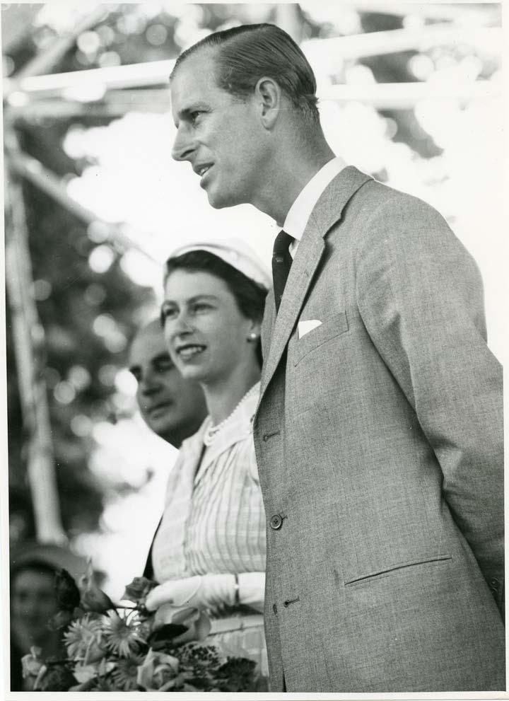 Philip Mountbatten and Queen Elizabeth II. Royal wedding