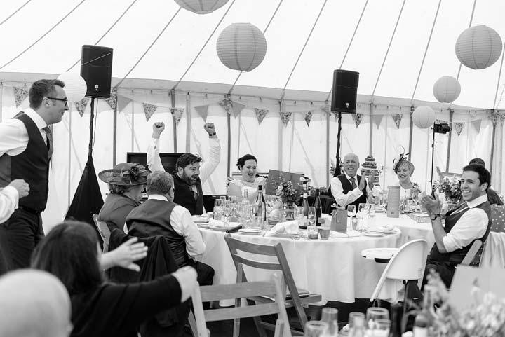 socialising at weddings