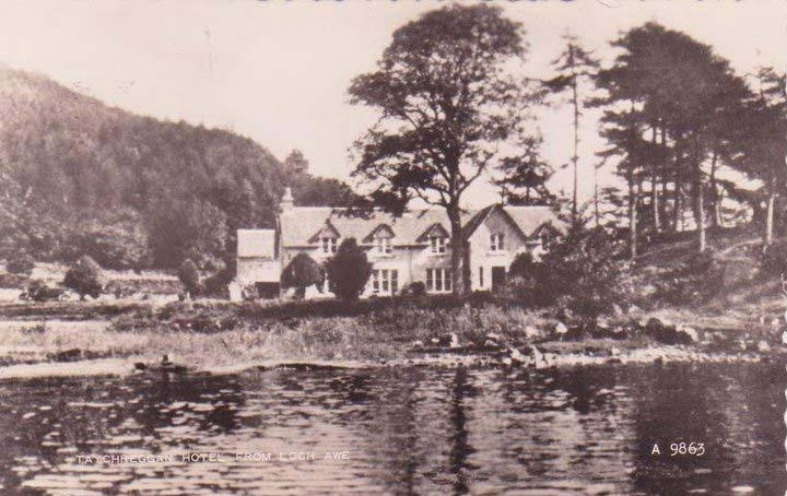 Highland Wedding on Loch Awe: Taychreggan Hotel, old photograph