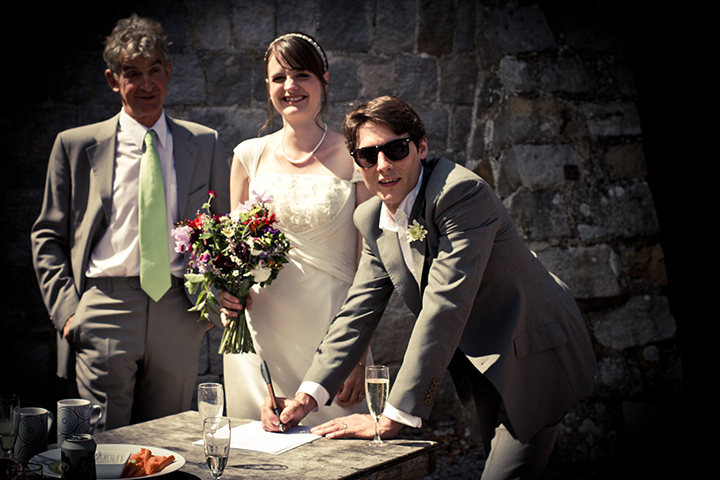 Ruth and Si's humanist wedding