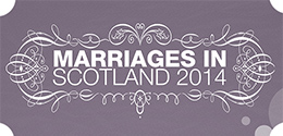 Click here to view Scotland's latest marriage statistics (2014)