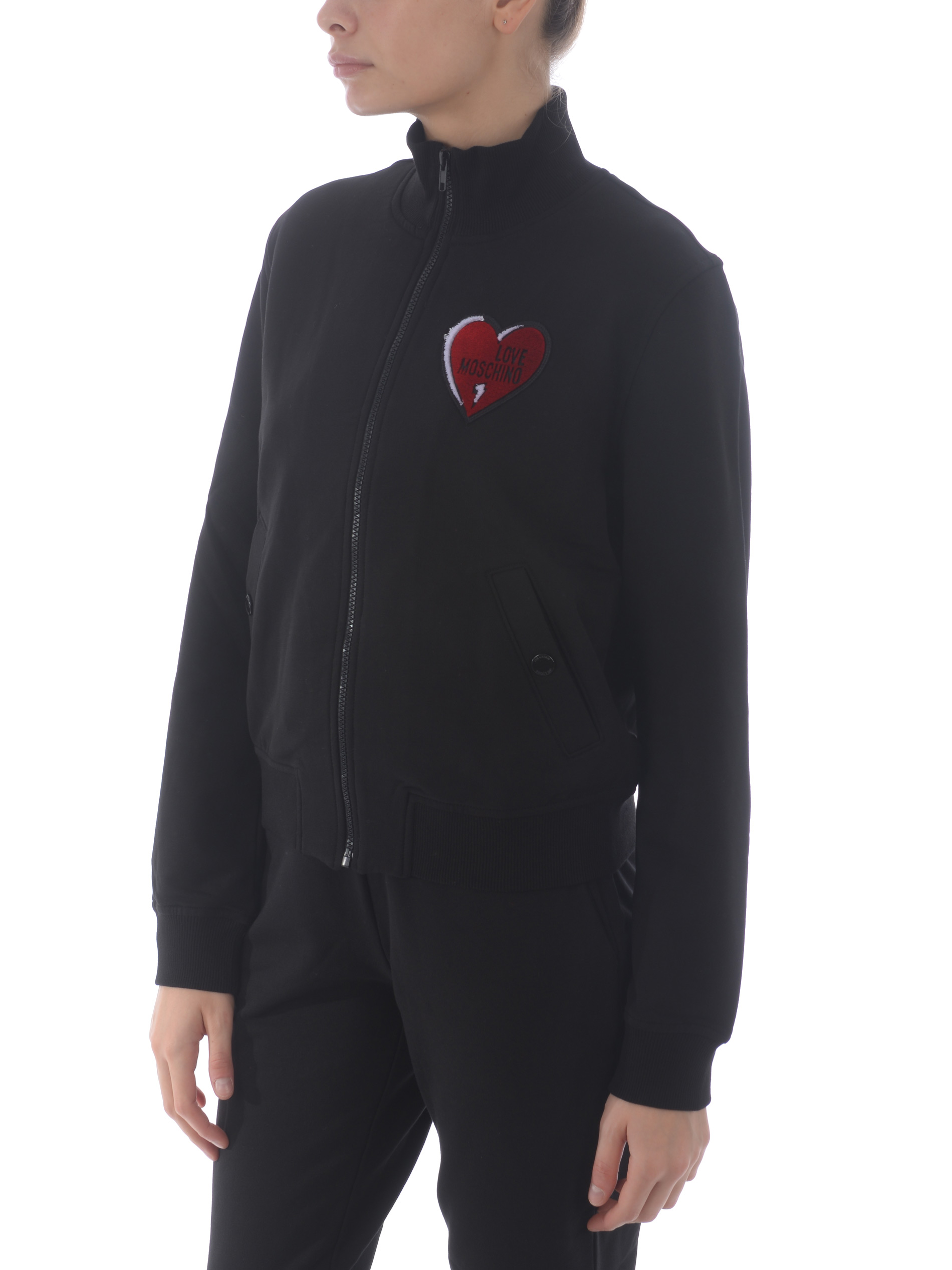 Felpa Love Moschino in cotone stretch MOSCHINO LOVE | 10000005 | W3400E2204-C74