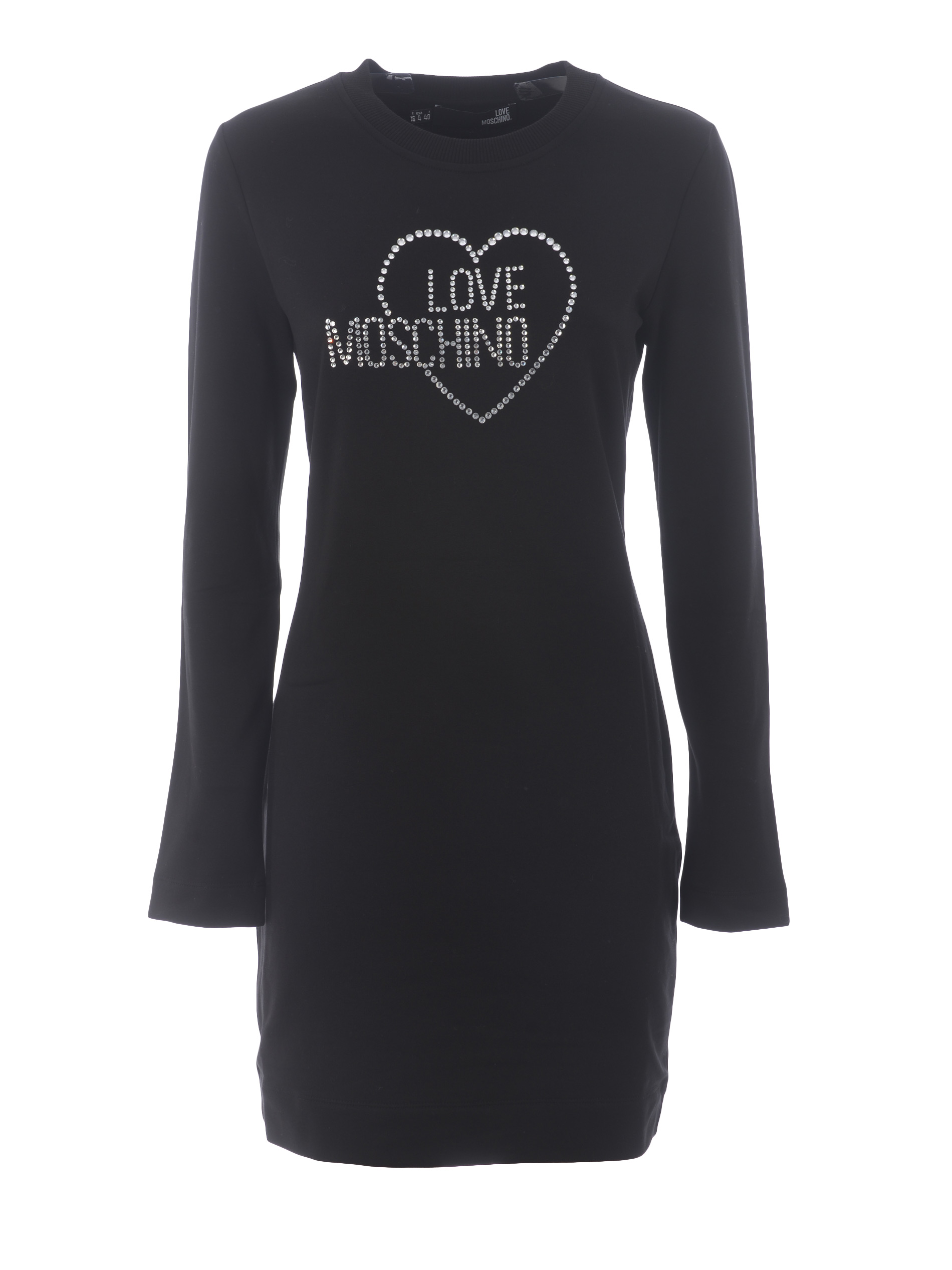 Love moschino dress / sweatshirt in stretch cotton