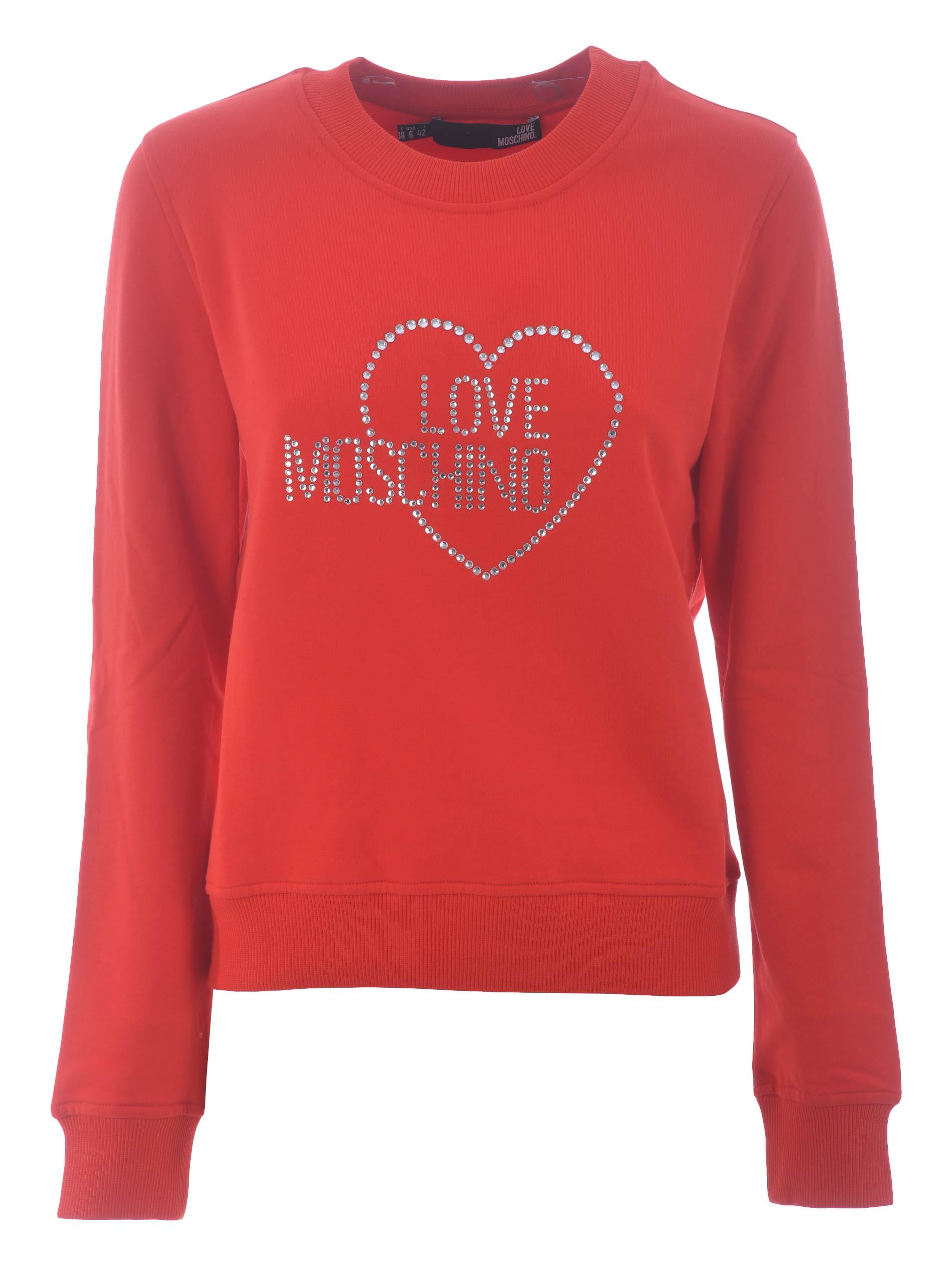 Felpa Love Moschino in cotone stretch