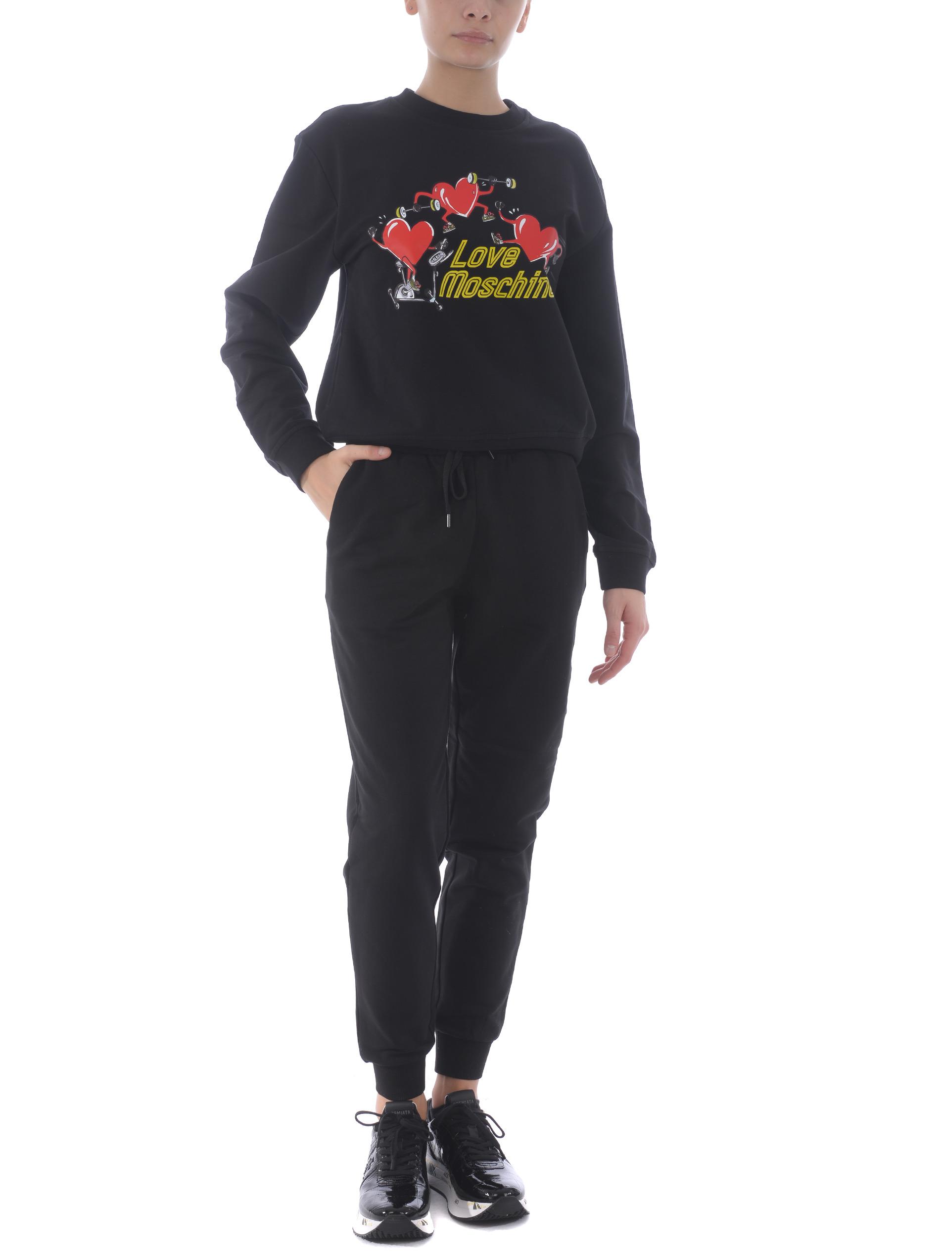 Love Moschino sweatshirt in stretch cotton MOSCHINO LOVE | 10000005 | W6306E2182-C74