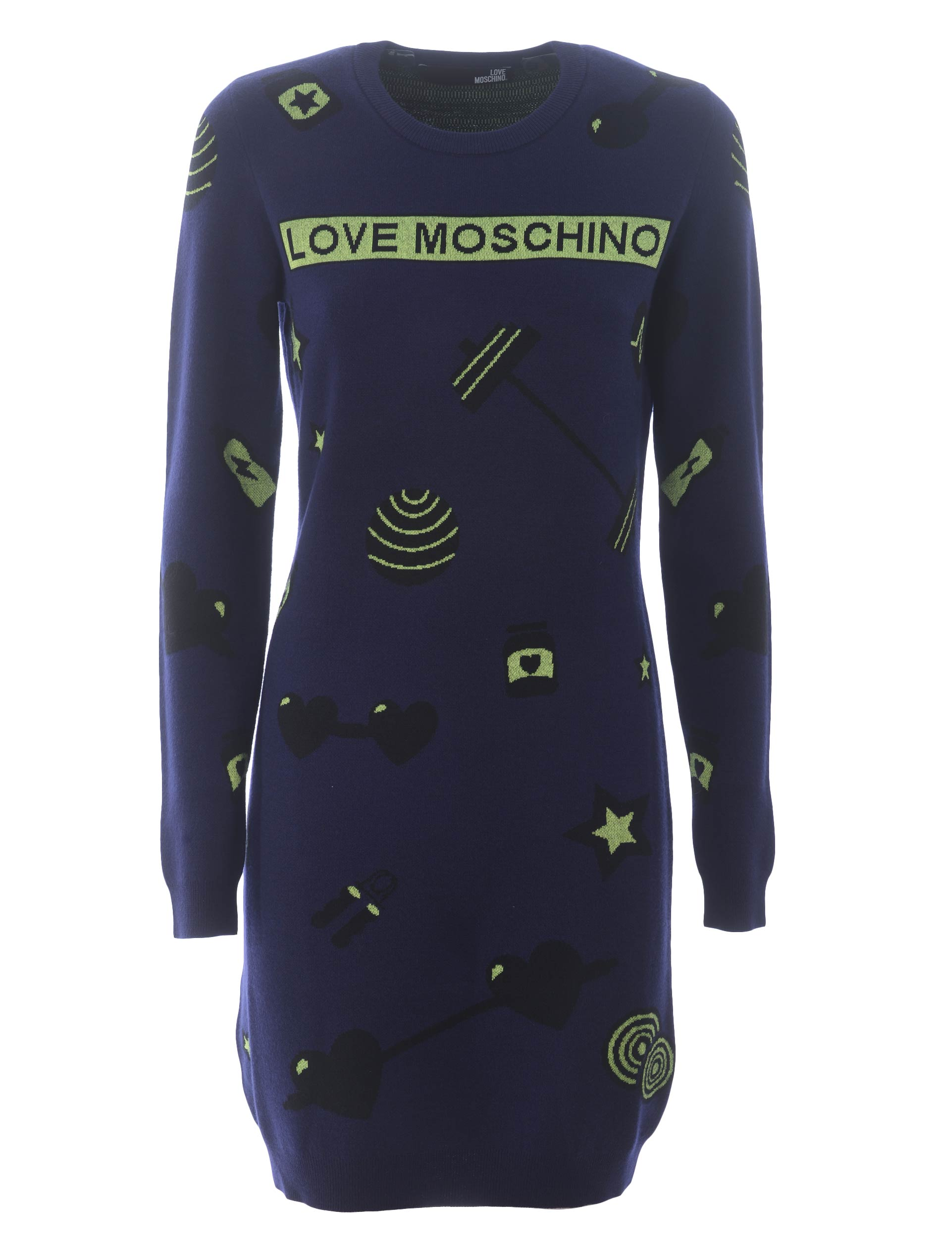 Love moschino dress in viscose and wool blend
