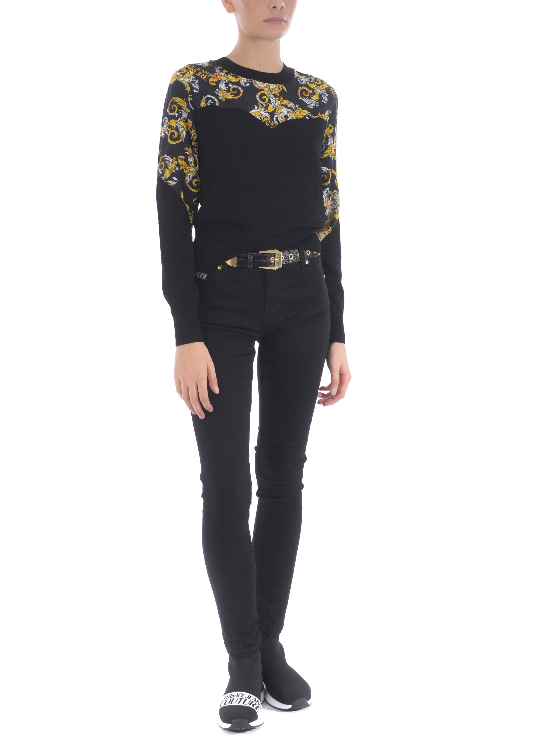 Maglione Versace Jeans Couture in misto viscosa VERSACE JEANS | 10000005 | B4HZA80550453-899