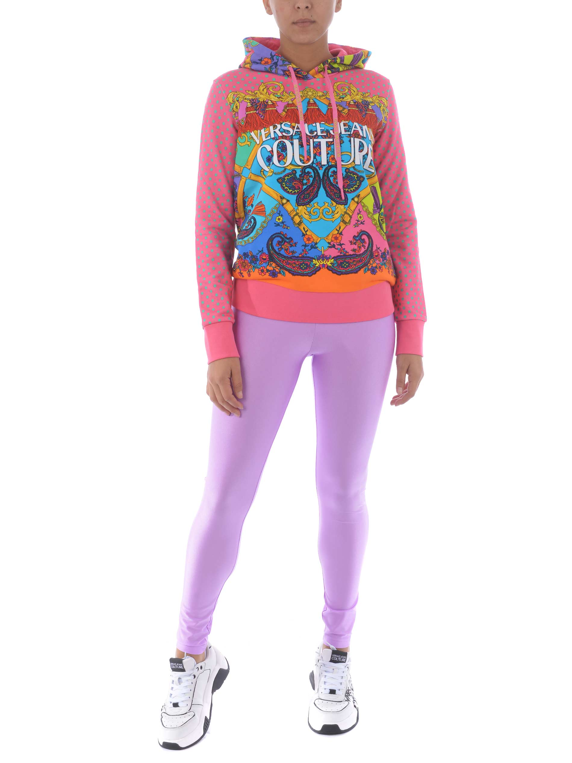 Felpa Versace Jeans Couture in cotone VERSACE JEANS | 10000005 | B6HZA7PM30394-445