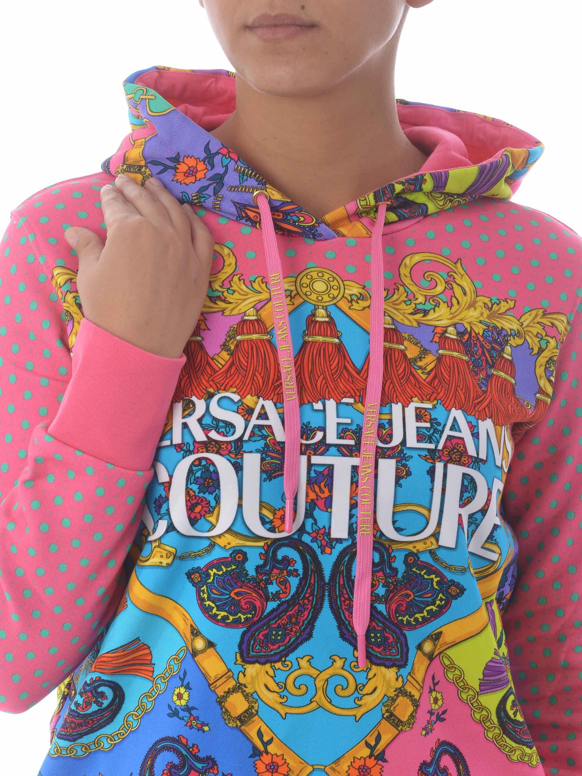Versace Jeans Couture cotton sweatshirt VERSACE JEANS | 10000005 | B6HZA7PM30394-445