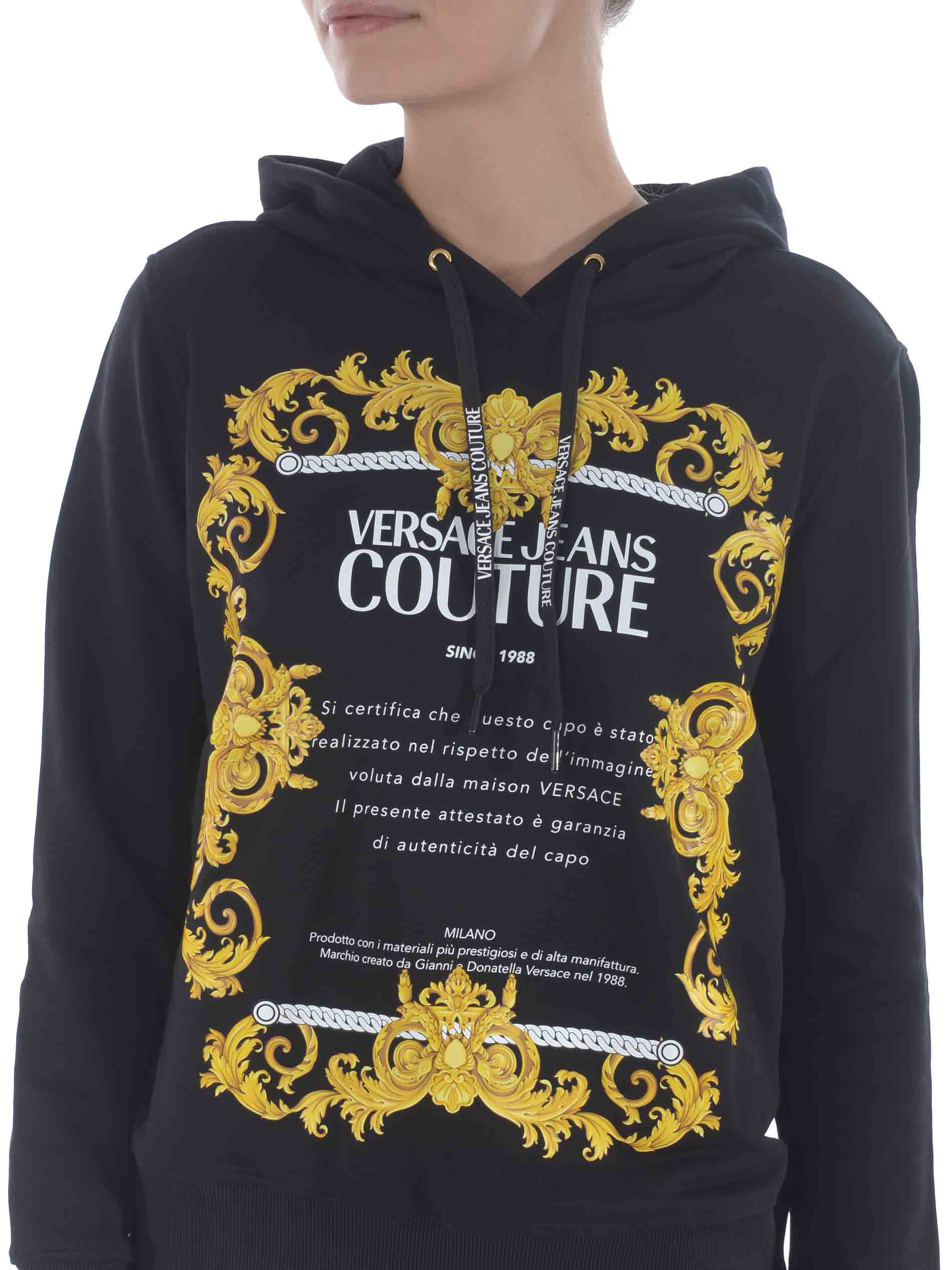 Felpa Versace Jeans Couture in cotone VERSACE JEANS | 10000005 | B6HZA7TS30318-899