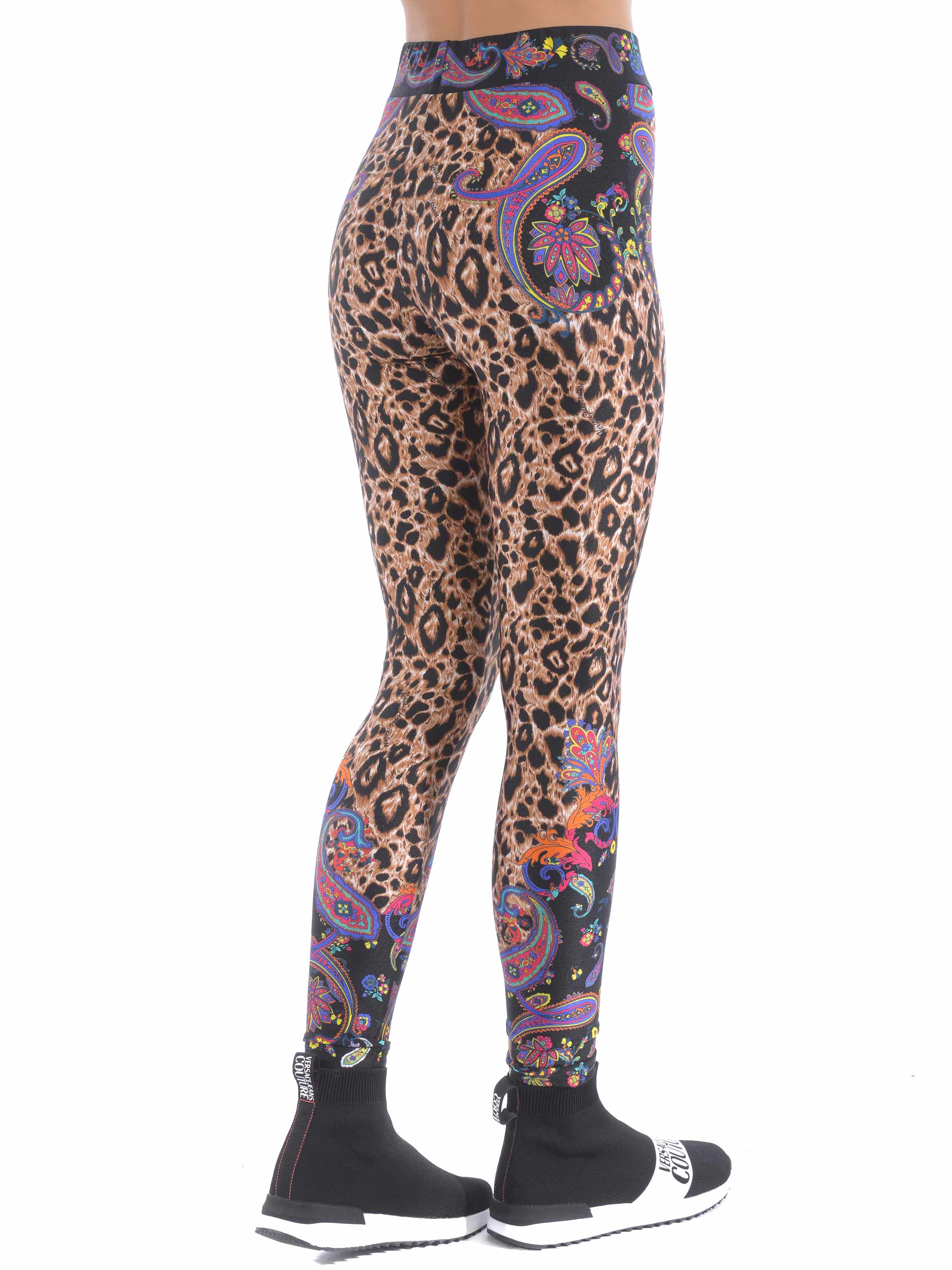 Leggings Versace Jeans Couture in lycra VERSACE JEANS | -1927212704 | D5HZA166S0856-899