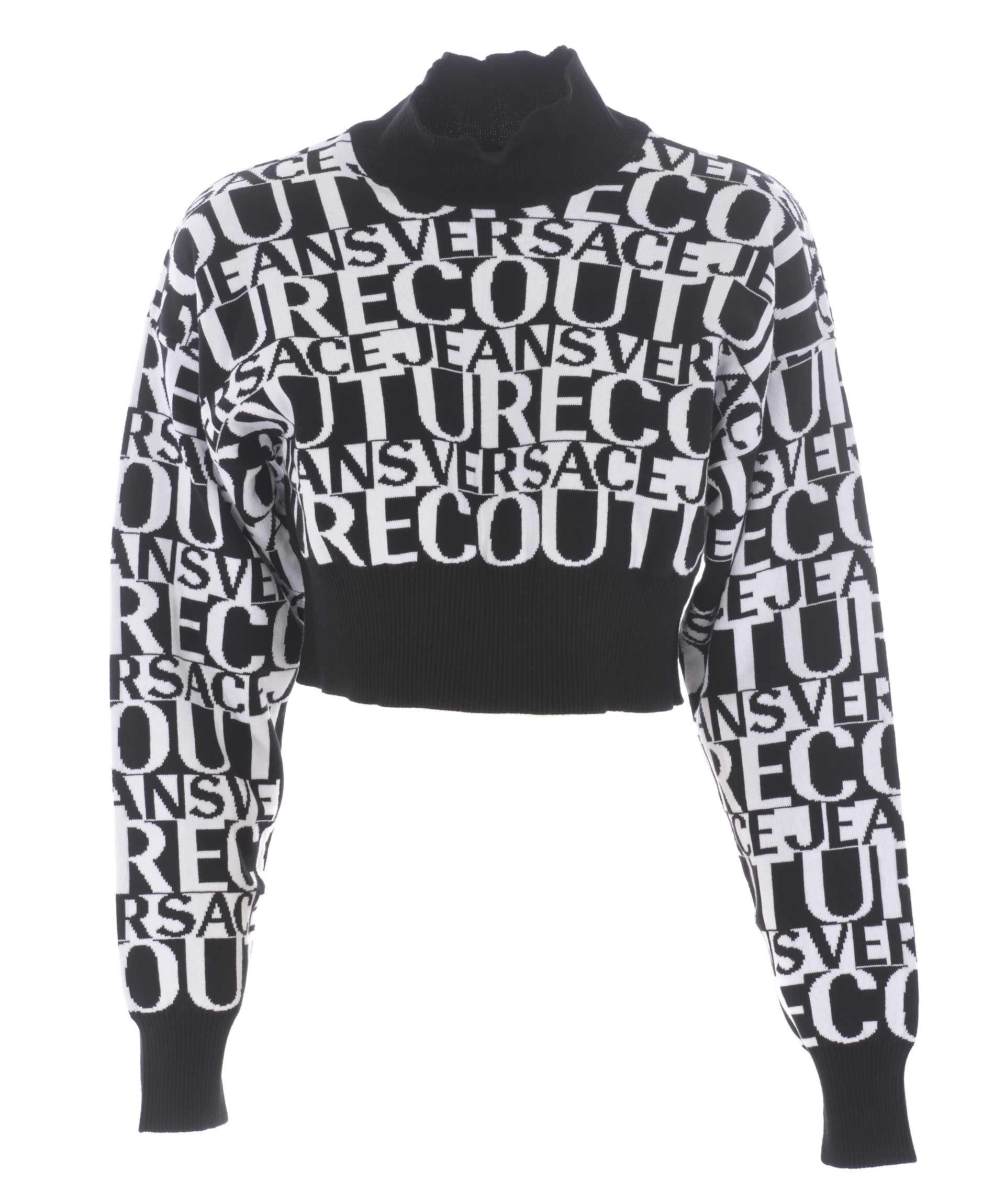 prezzo competitivo 1d9fd 09b8d Maglia crop Versace Jeans Couture