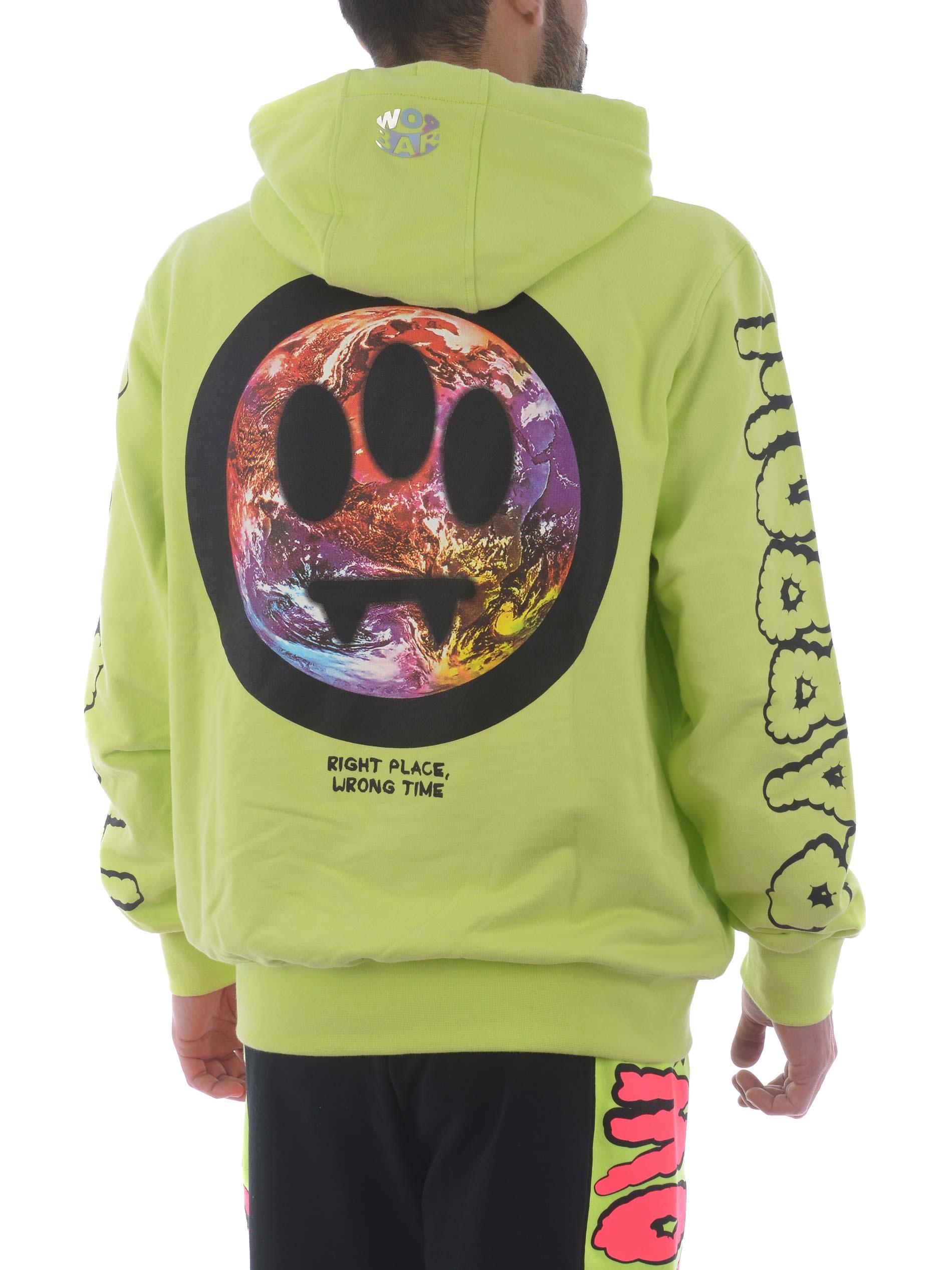 Barrow cotton hoodie BARROW | 10000005 | 029131GIALLO FLUO
