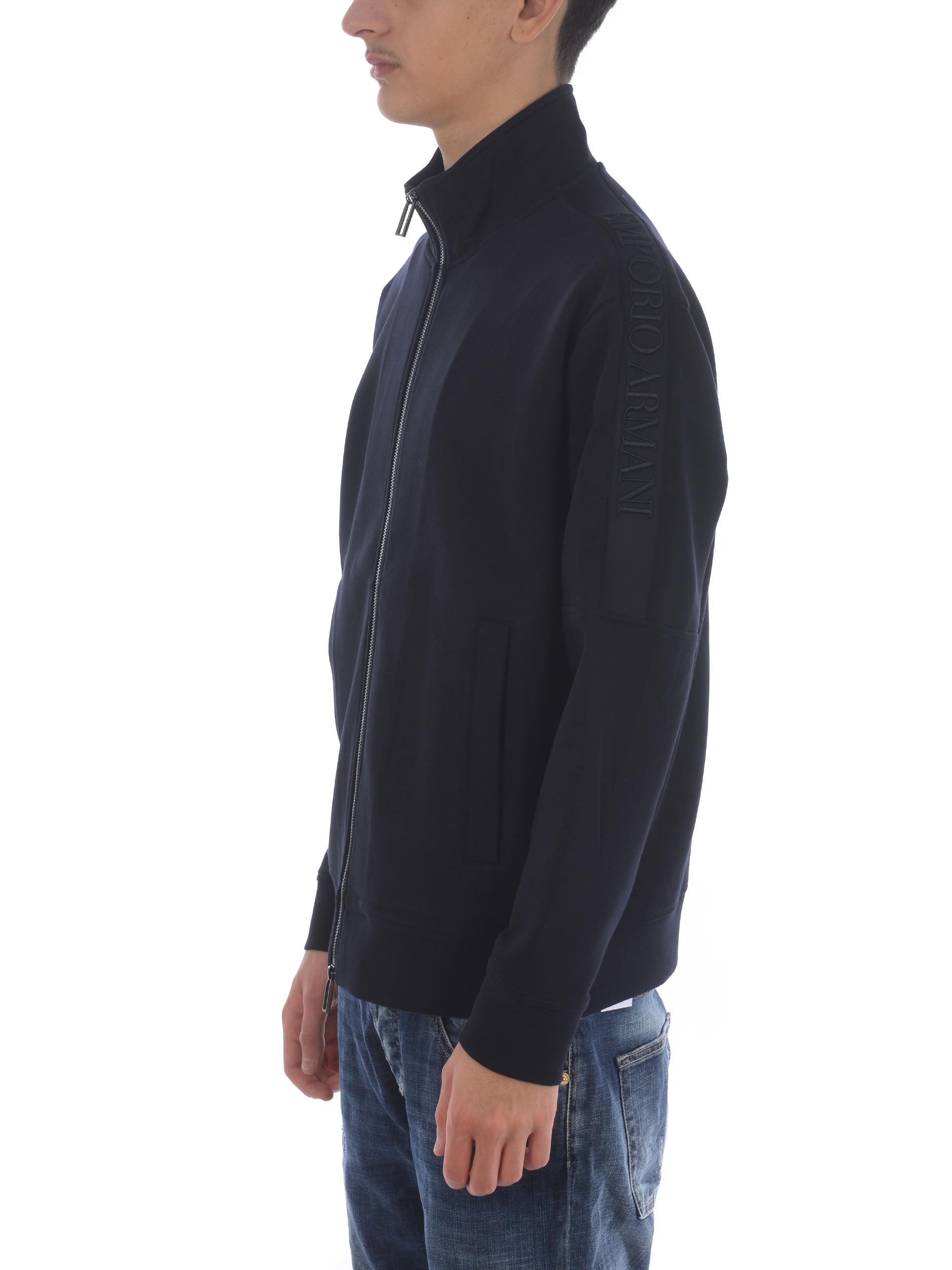 Felpa Emporio Armani in misto cotone stretch EMPORIO ARMANI | 10000005 | 3K1MF41JHSZ-0920