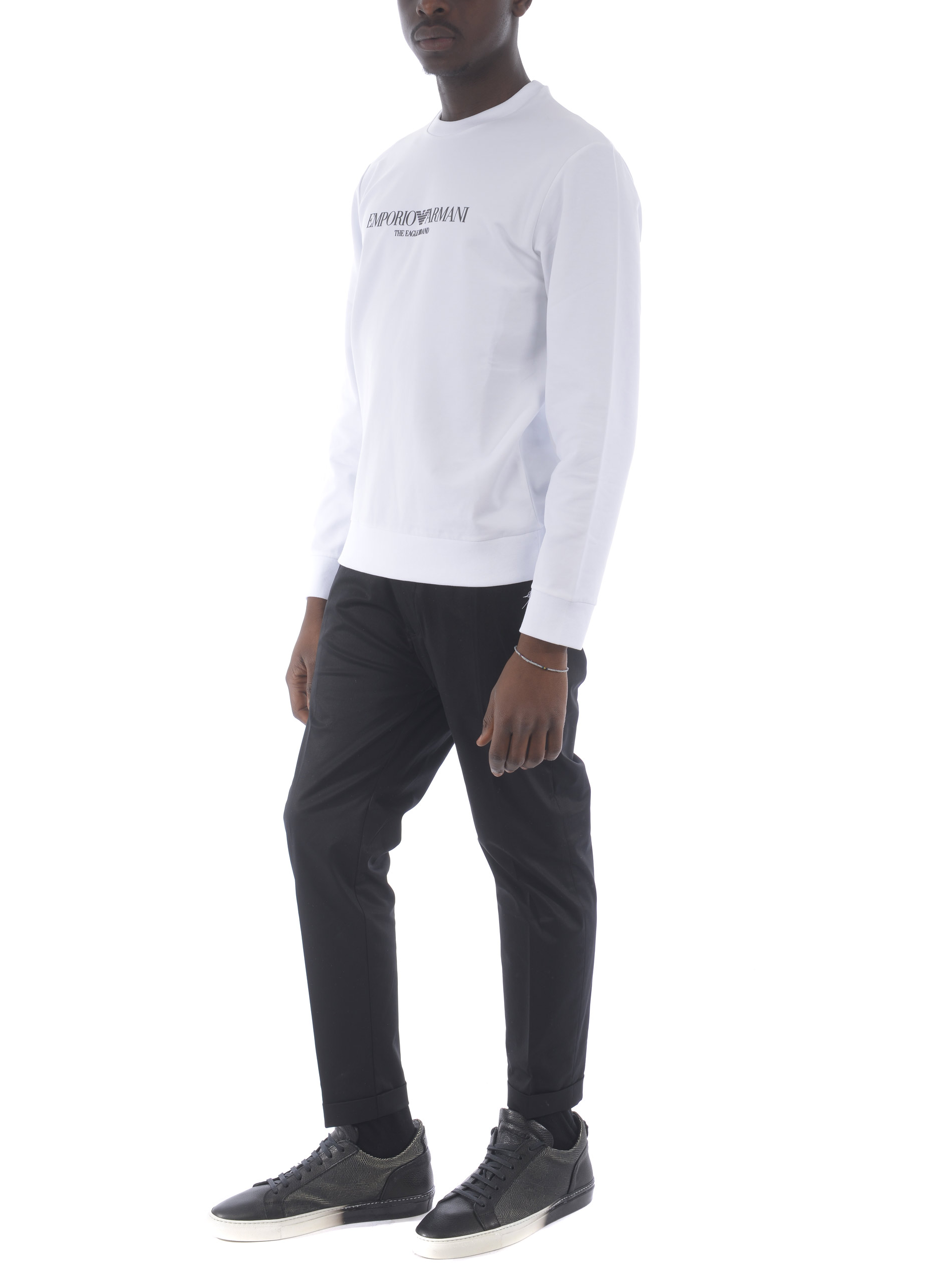 Emporio Armani stretch cotton sweatshirt EMPORIO ARMANI | 10000005 | 8N1ME81J04Z-0100