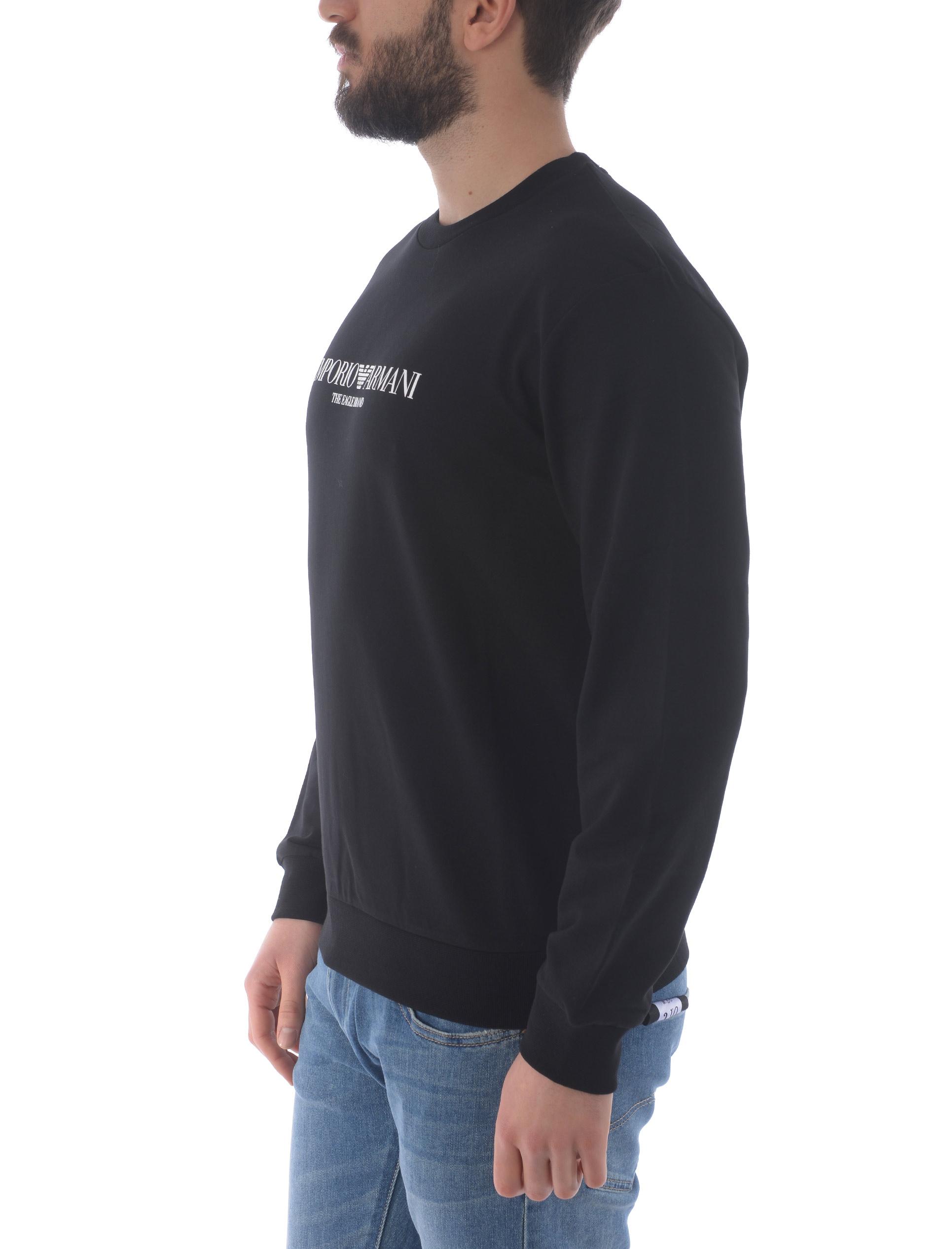 Felpa Emporio Armani in cotone stretch EMPORIO ARMANI | 10000005 | 8N1ME81J04Z-0999