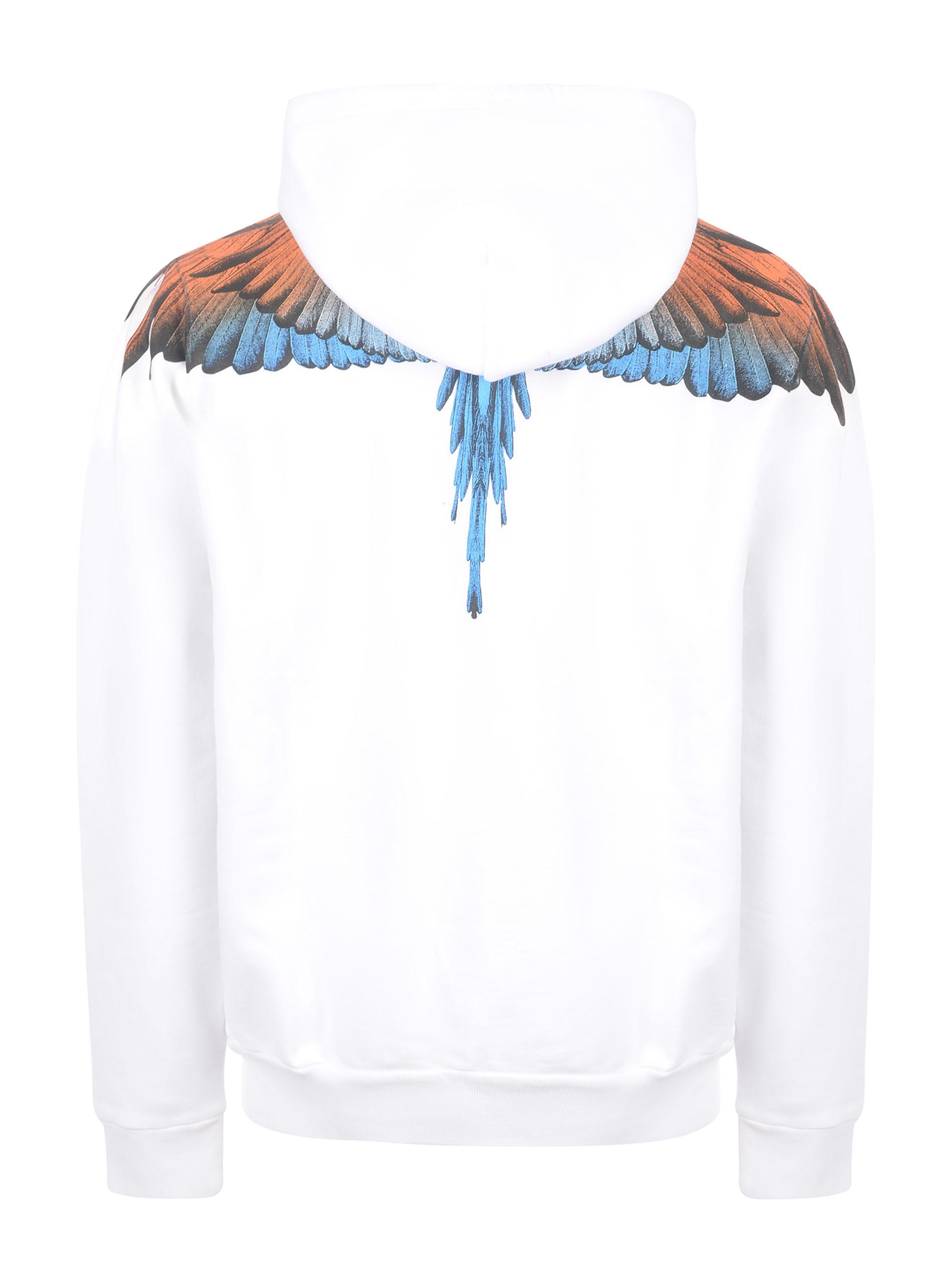 Marcelo Burlon Wings Regular cotton hoodie MARCELO BURLON | 10000005 | CMBB007R21FLE0010120