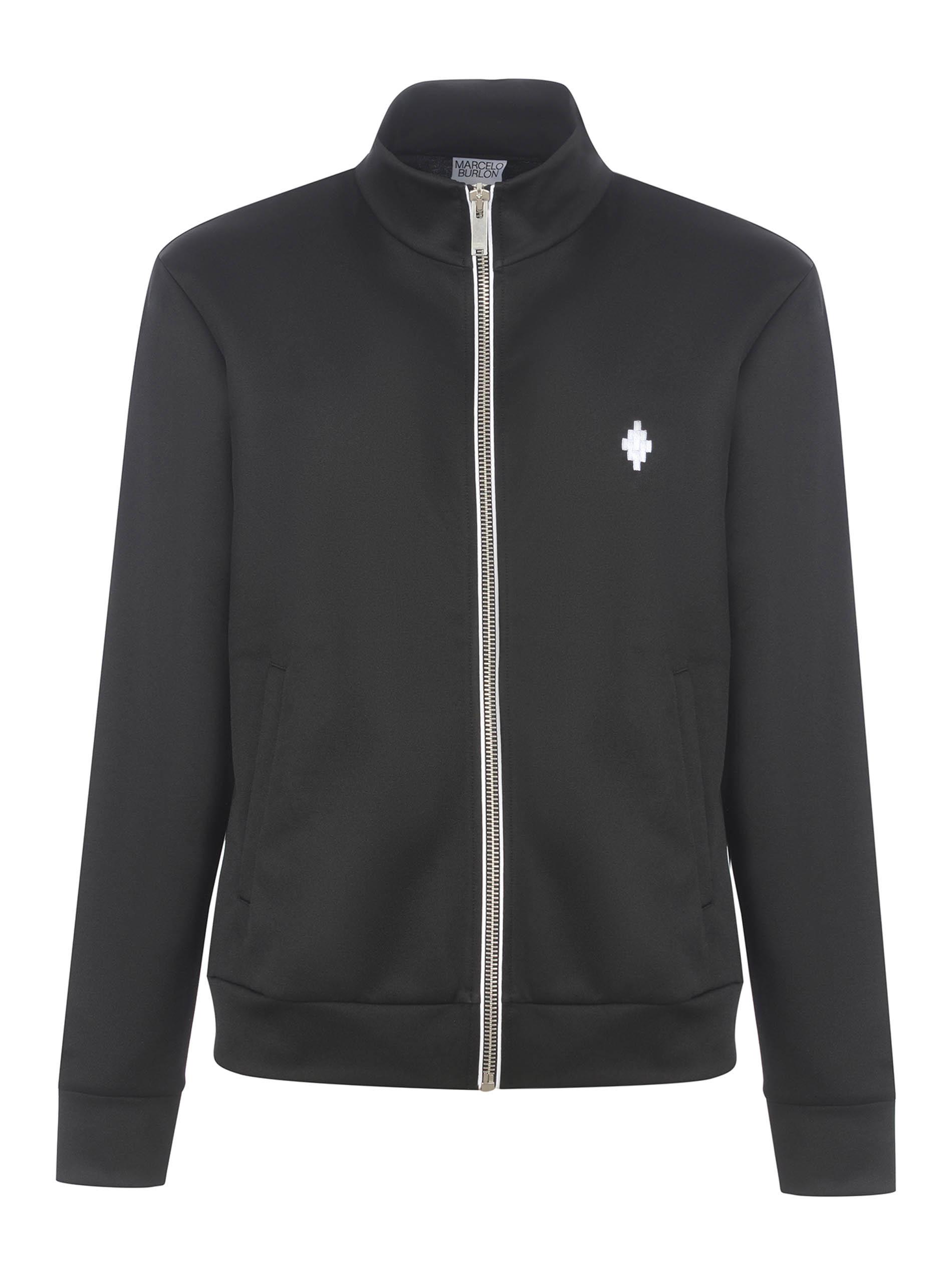 Felpa Marcelo Burlon Cross Slim Track Jacket in nylon MARCELO BURLON | 10000005 | CMBD007R21JER0011001