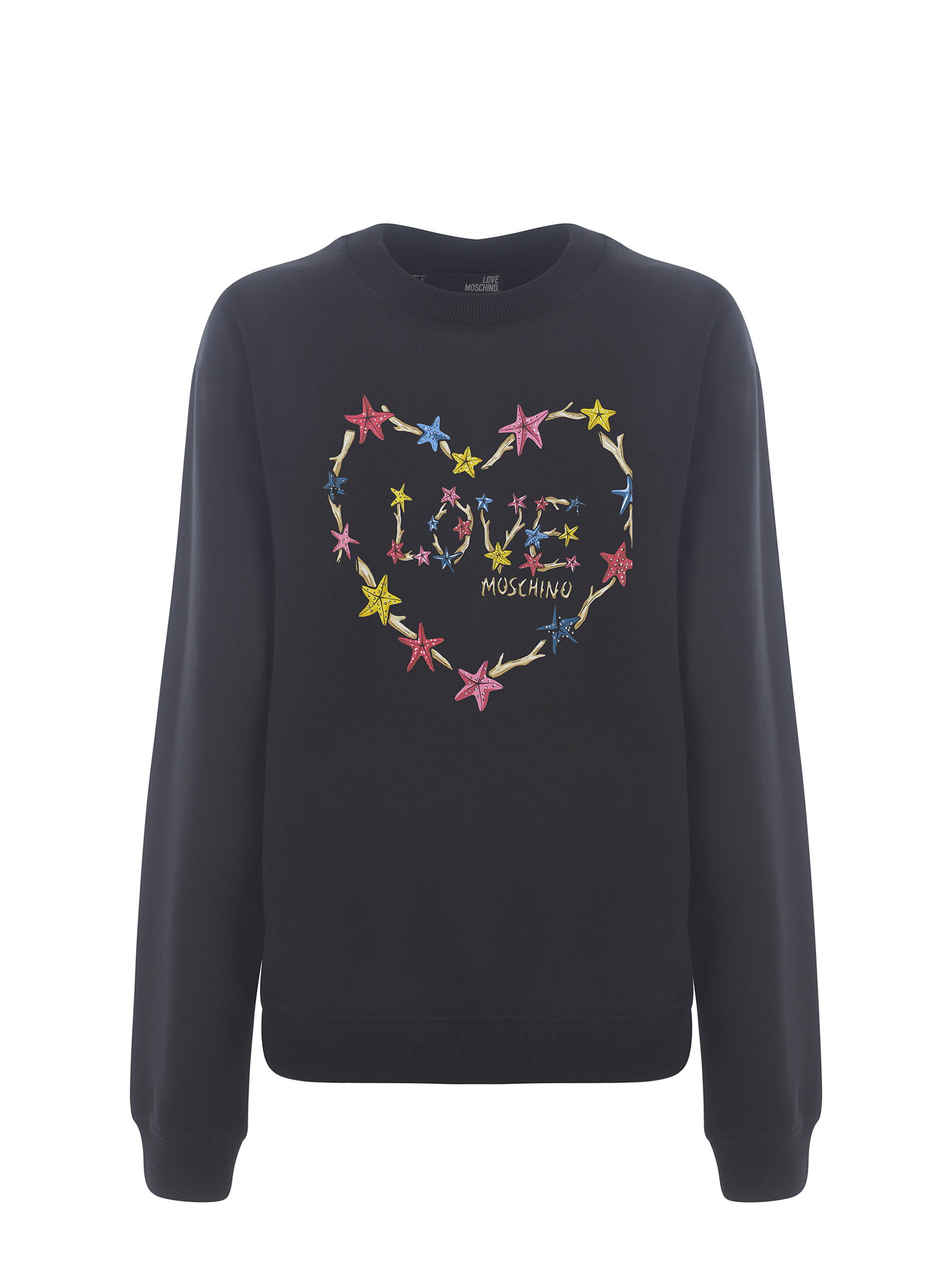 Moschino Love Starfish Heart stretch cotton sweatshirt MOSCHINO LOVE | 10000005 | W630222E2246-C74