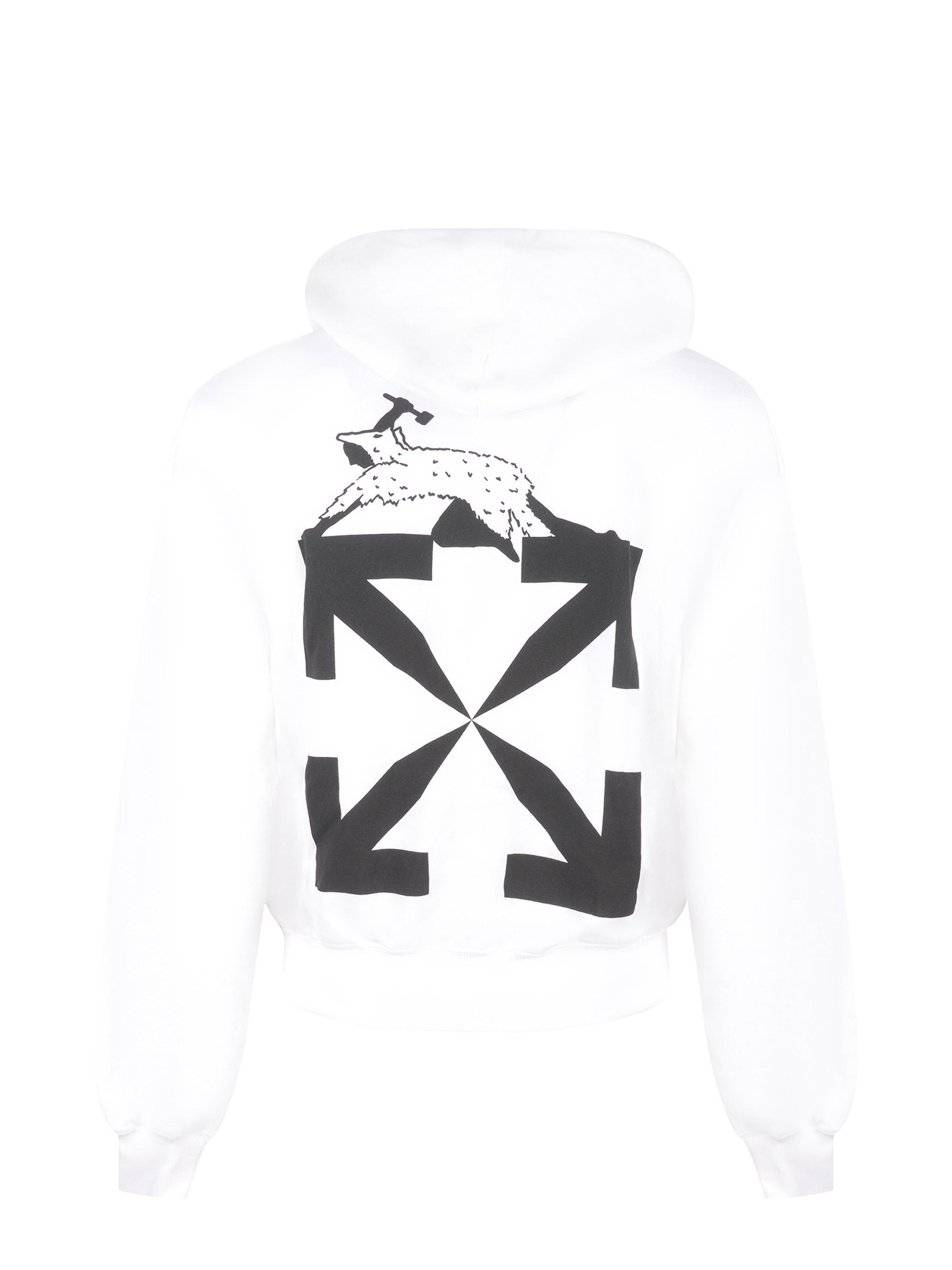 OFF-White World Caterpillar cotton hoodie OFF WHITE | 10000005 | OMBB037R21FLE0090110