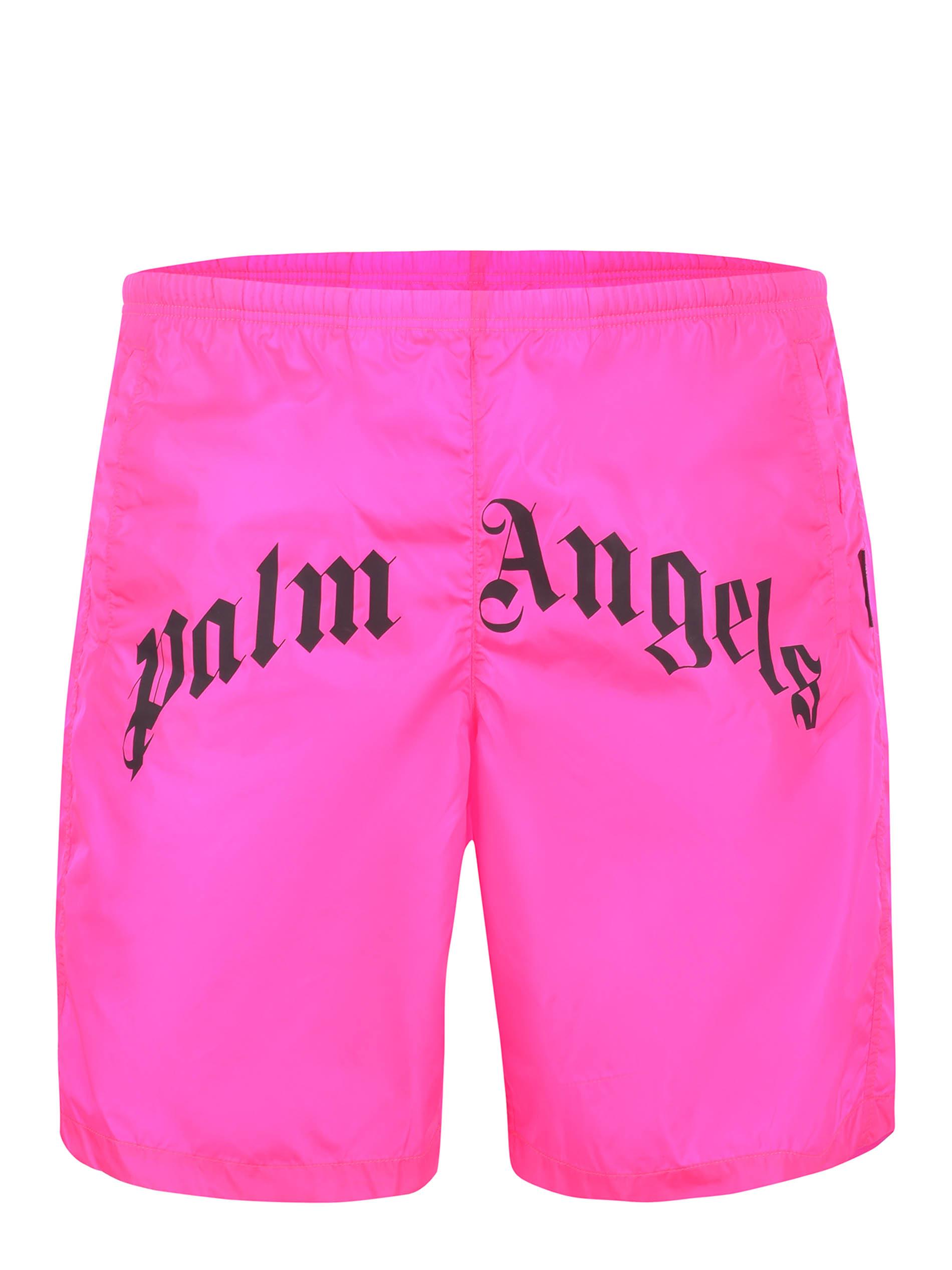 Costume Palm Angels Bright curved logo swim in nylon PALM ANGELS | 30 | PMFA005S21FAB0043210