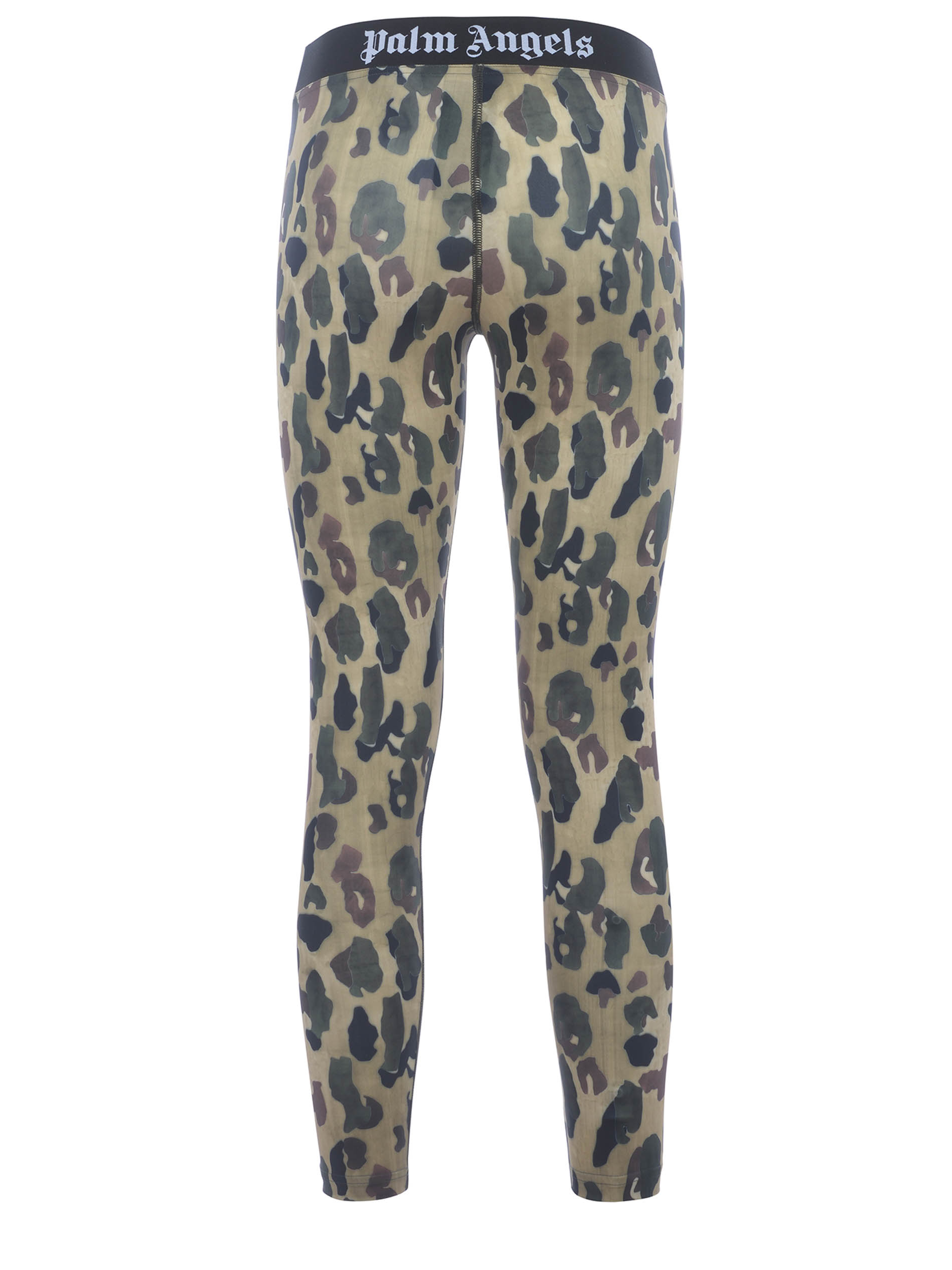 Palm Angels Military Camo leggings in stretch nylon PALM ANGELS | -1927212704 | PWCD006S21FAB0015601