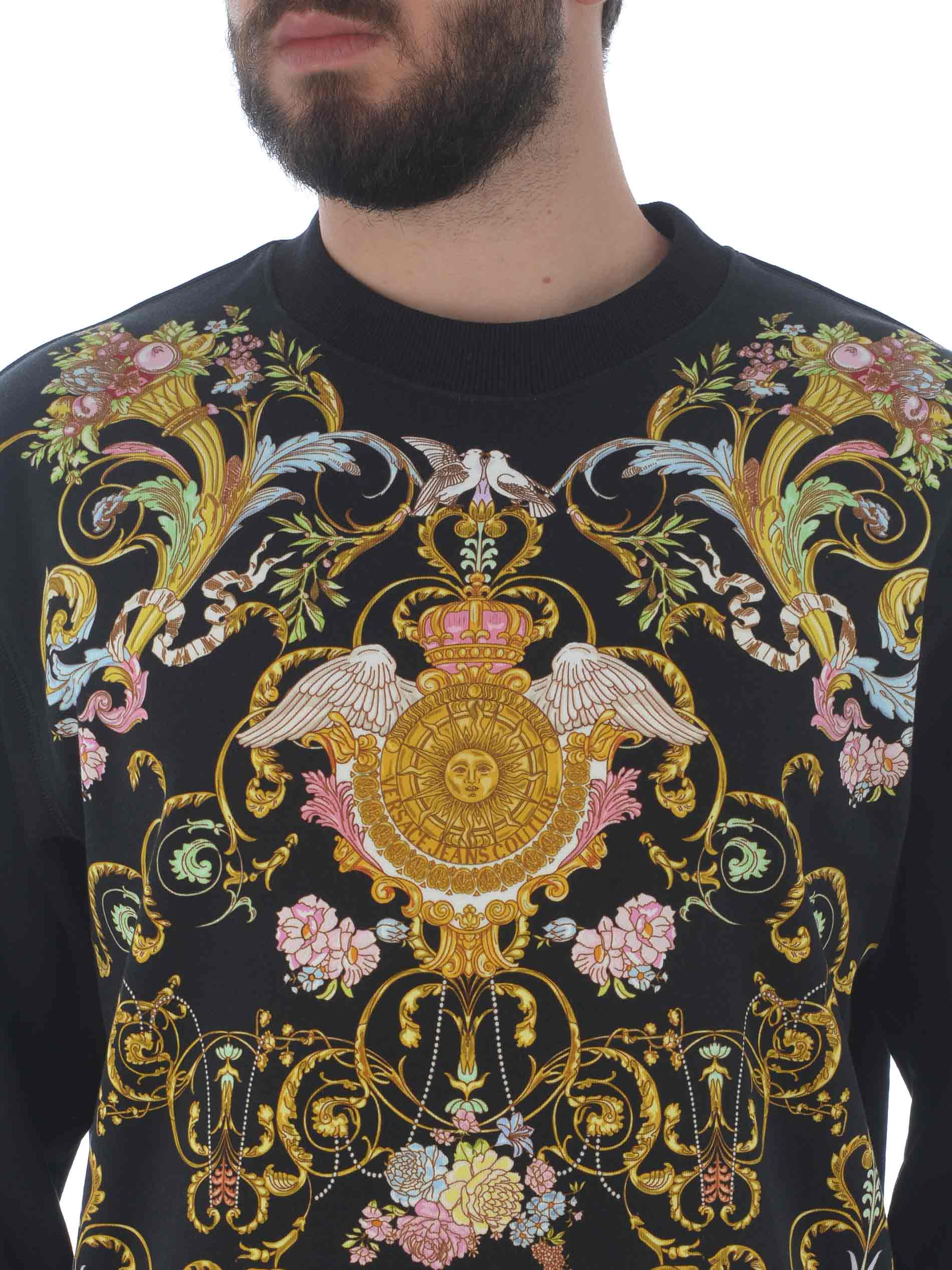 Felpa Versace Jeans Couture in cotone VERSACE JEANS | 10000005 | B7GWA7F413988-899