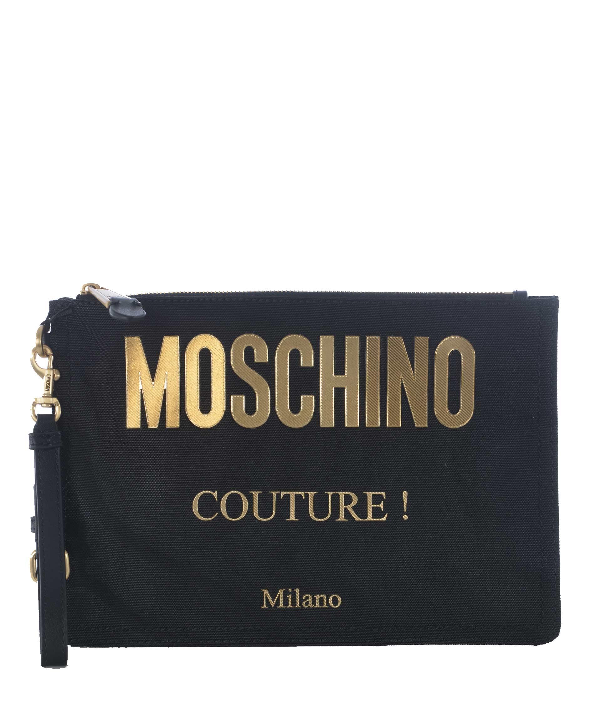 Bustina Moschino in tela di nylon
