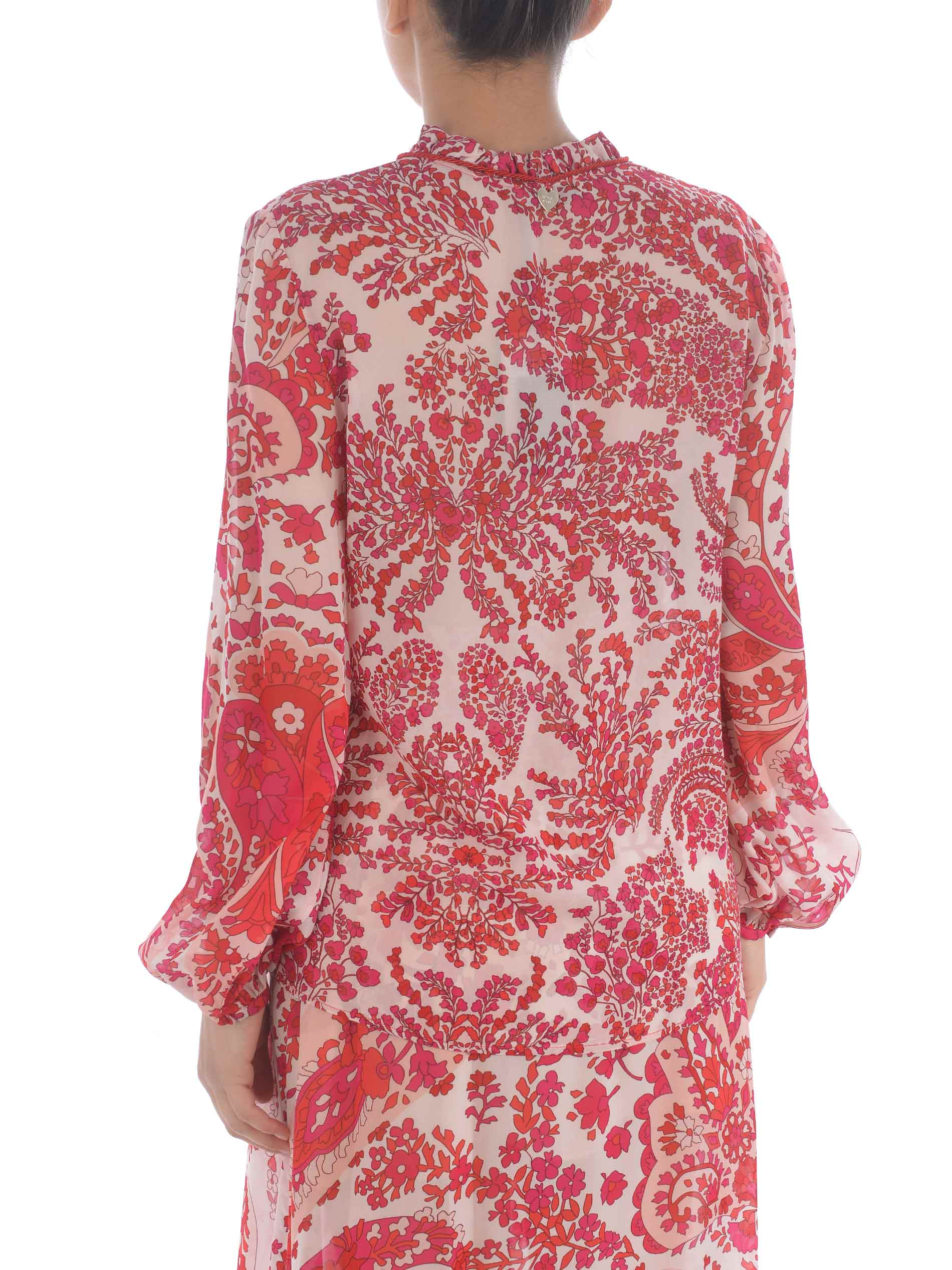 Twinset blouse in viscose georgette TWIN-SET | -96357801 | TP253104796