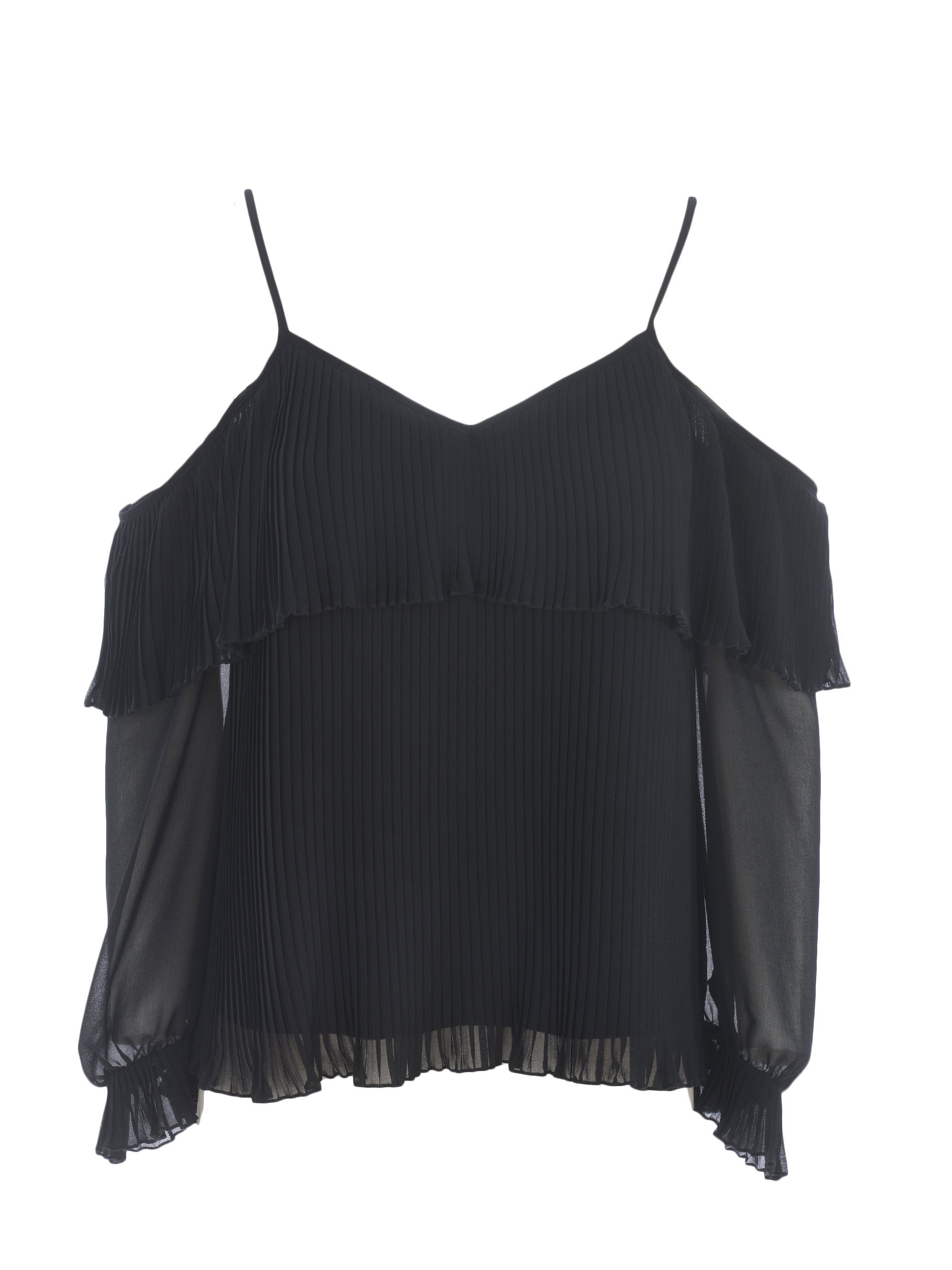 Twinset blouse in pleated georgette