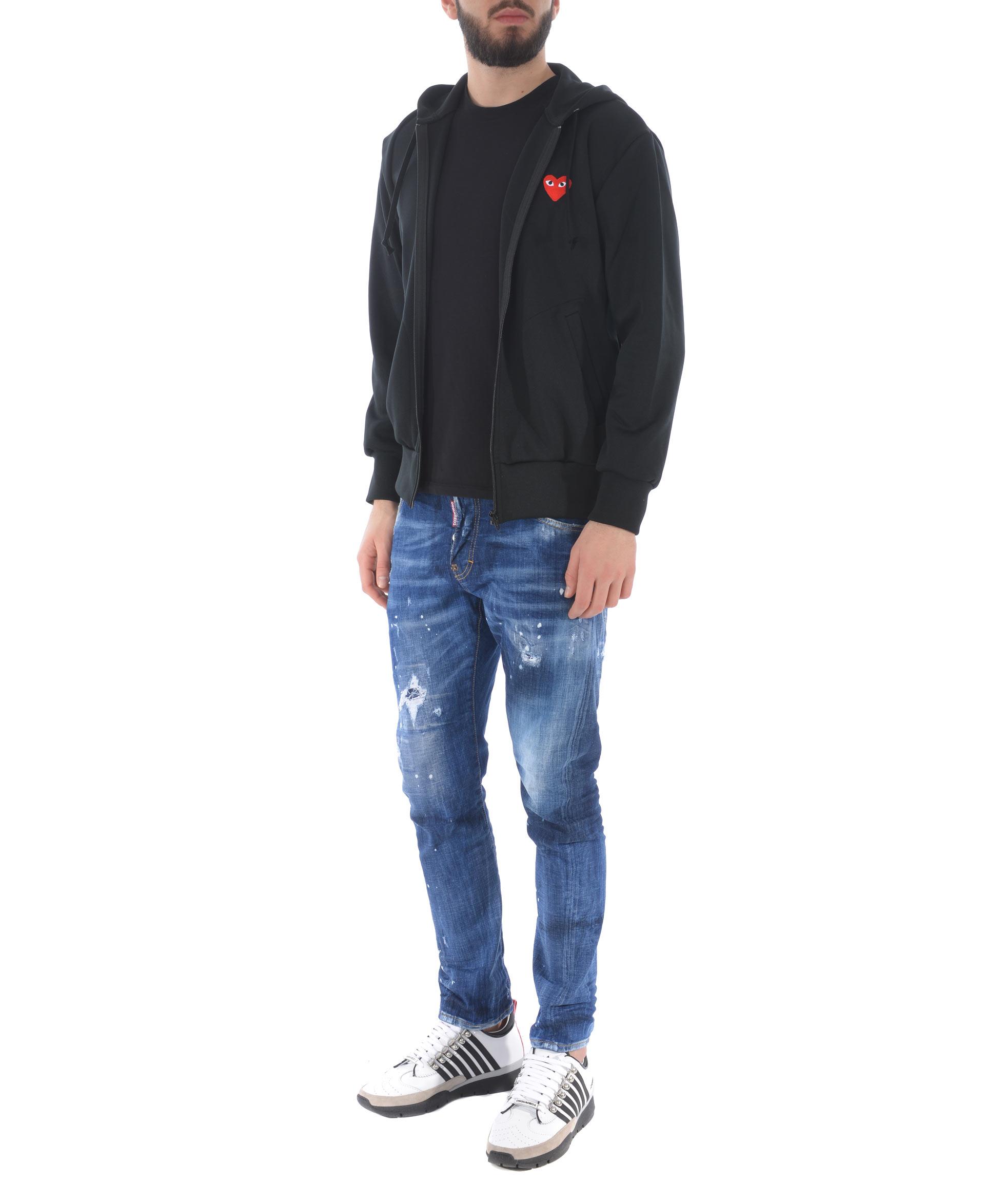 Comme des Garçons Play nylon sweatshirt COMME des GARCONS PLAY | 10000005 | P1T172BLACK