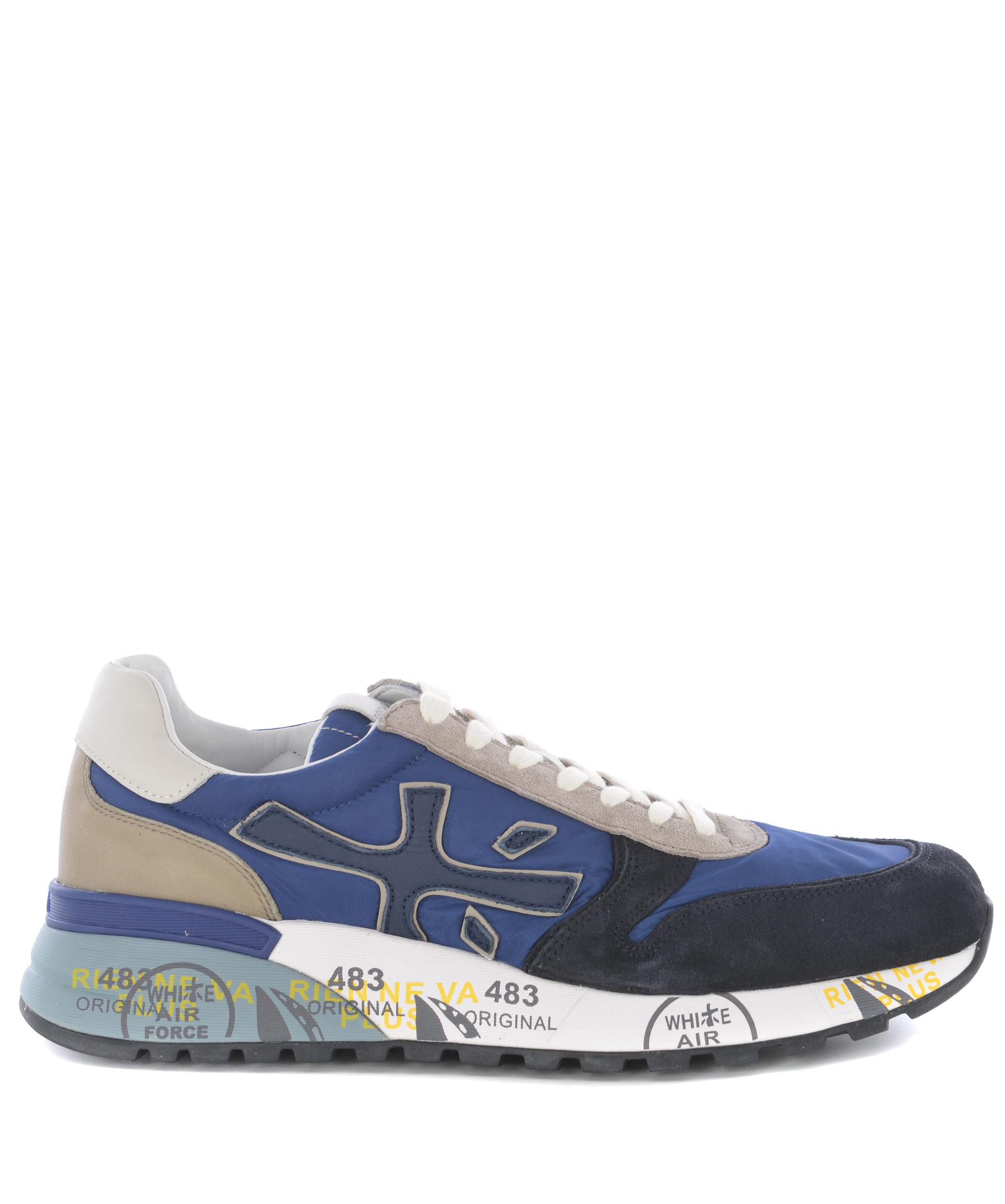 colore NYLON E SUEDE IN ginnastica da scarpe PREMIATA BLU