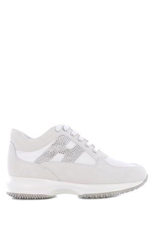 Sneakers Hogan Interactive H strass in camoscio e nylon HOGAN | 5032245 | HXW00N02011FIKB001