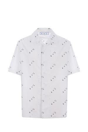 Camicia OFF-White logo all-over OFF WHITE | 6 | OMGA196F21FAB0050101