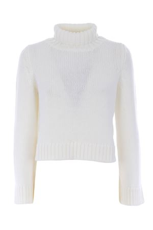 Base Milano cropped sweater in merino wool BASE MILANO | 7 | B4867251-201
