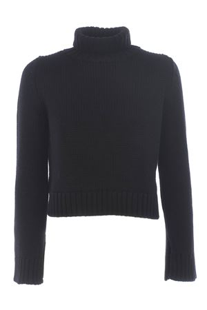Base Milano cropped sweater in merino wool BASE MILANO | 7 | B4867251-250
