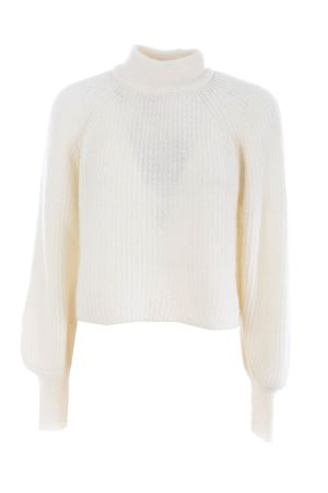 Base Milano cropped sweater in mohair and alpaca blend BASE MILANO | 7 | B4891302-777