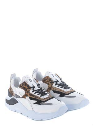 Running sneaker D.A.T.E. Fuga Animalier in pelle e cavallino DATE | 5032245 | W331-FG-ANWD