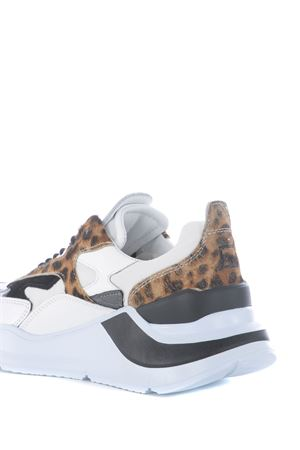Running sneaker D.A.T.E. Fuga Animalier in leather DATE | 5032245 | W331-FG-ANWD