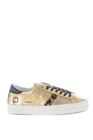 Sneaker bassa D.A.T.E. Hill Low Animalier  in pelle laminata DATE | 5032245 | W331-HL-ANGO