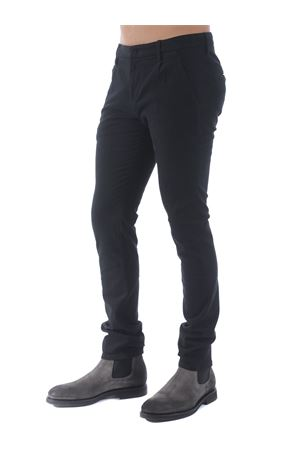 Pantaloni Dondup gaubert pinces in gabardina di cotone stretch DONDUP | 9 | UP517RSE032PT0-999