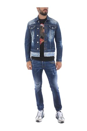 Dsquared2 jacket in stone wash stretch denim. DSQUARED | 13 | S71AN0239S30342-470