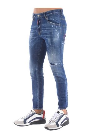 Dsquared2 jeans in stone wash stretch denim. DSQUARED | 24 | S71LB0774S30342-470