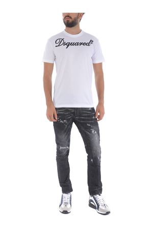 Dsquared2 tidy biker jeans in stretch denim
