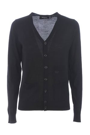 Dsquared2 cardigan in wool yarn. DSQUARED | 850887746 | S72HA1027S16794-900