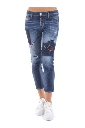 Dsquared2 cool girl cropped jeans in stretch denim DSQUARED | 24 | S72LB0373S30708-470