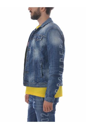 Dsquared2 dan jean jacket in stretch denim DSQUARED | 13 | S74AM1061S30342-470
